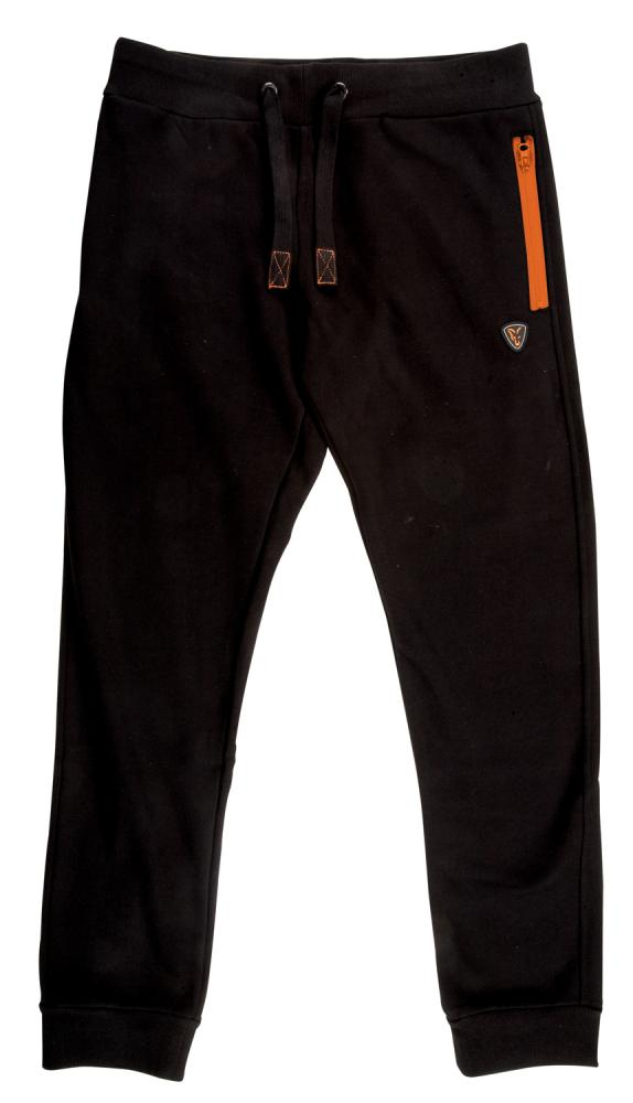 FOX Black/Orange Joggers - tepláky