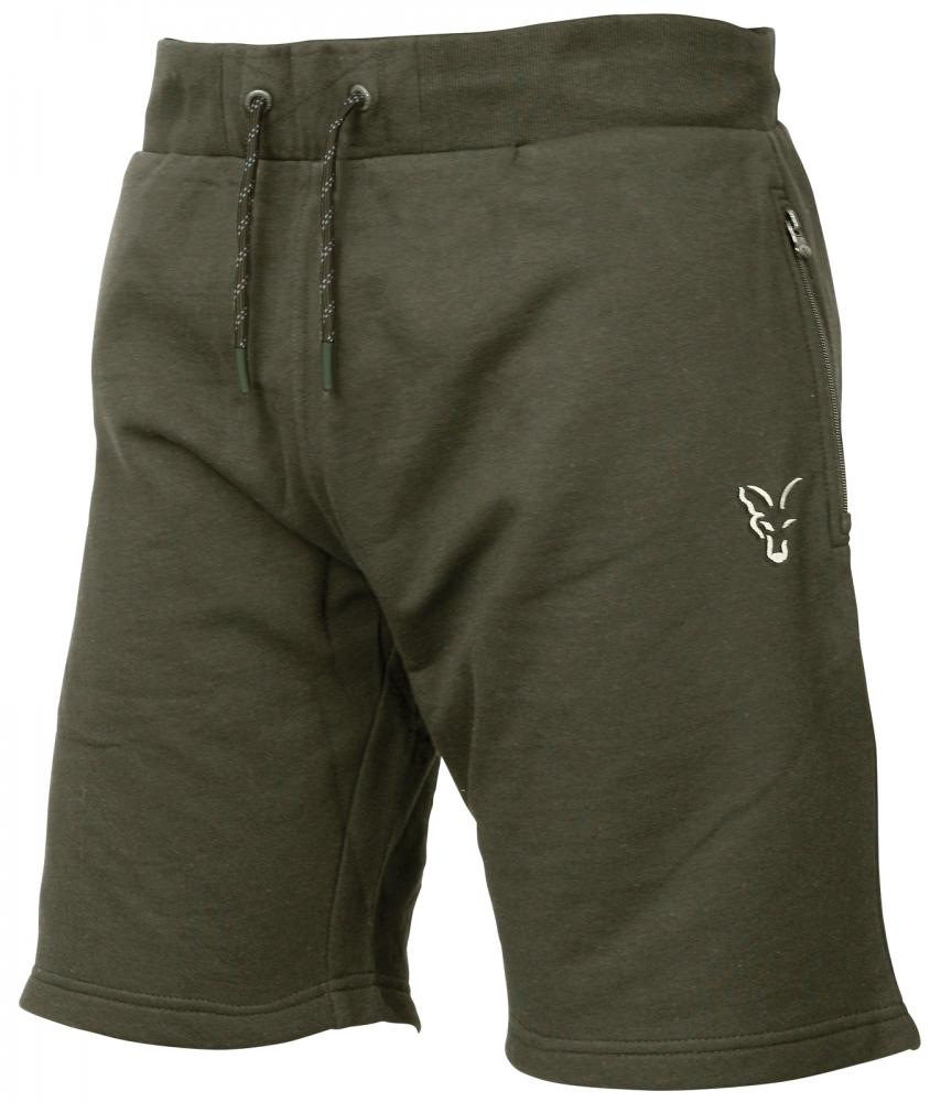 FOX Collection Green & Silver Lightweight Jogger Shorts | šortky