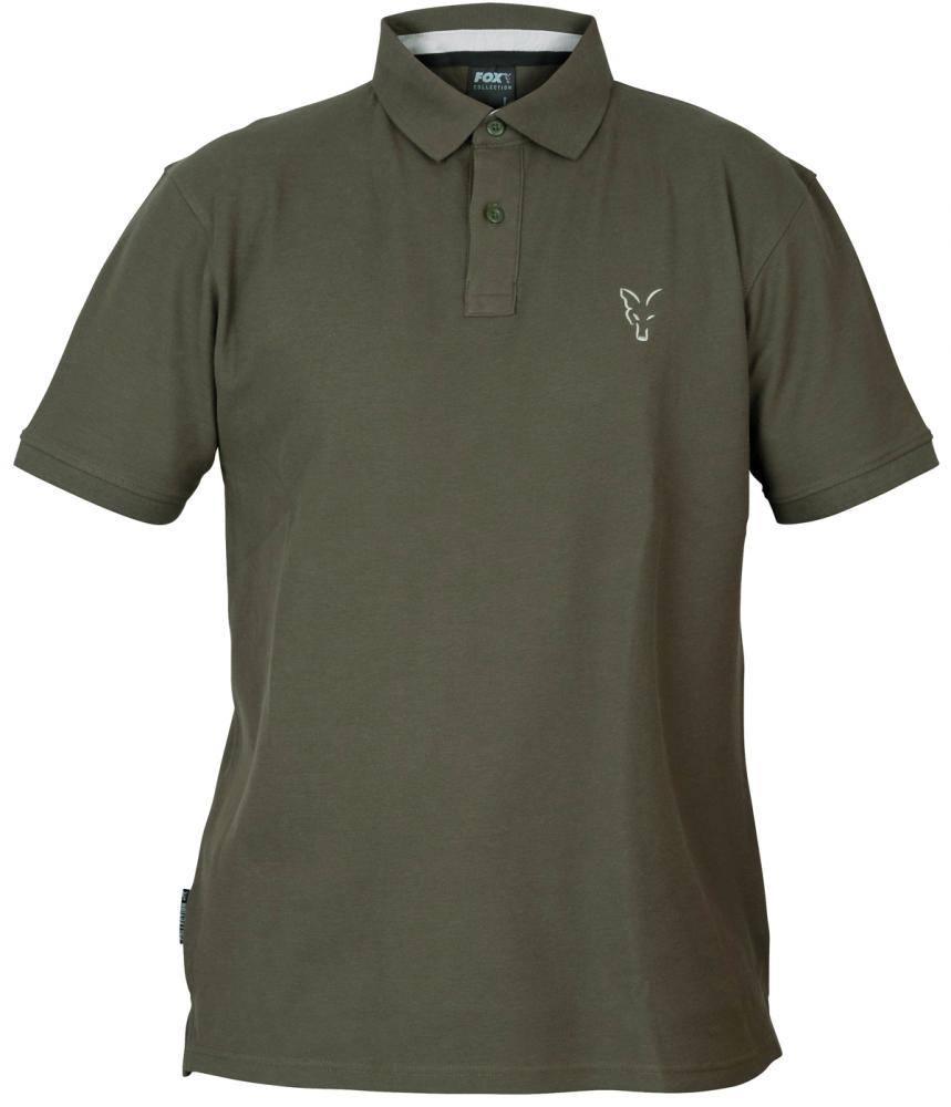 FOX Collection Green/Silver Polo Shirt - polokošeľa
