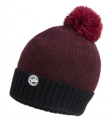 FOX Chunk Burgundy & Black Bobble Hat | čiapka s brmbolcom